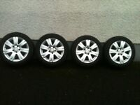 Mercedes C Class W204 genuine alloys & winter tyres
