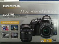 Olympus E260 + 2 Lenses, Battery, Charger, xd card, USB, Original box