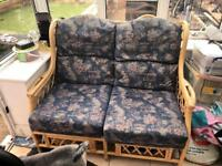 2aeater and 2 armchairs conservatory furniture