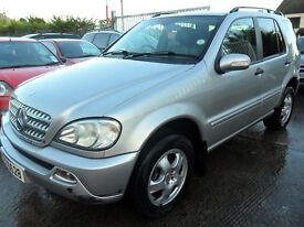 mercedes ml c270 cdi 2003 silver full black leather not just up