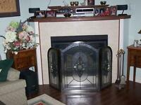 glass fire place screen