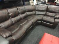 New/Ex Display LazyBoy Belair Corner Recliner Sofa (Left or Right Side Corner)