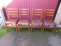 4 Vintage Retro Dining Chairs