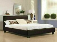 BEST FURNITURE- NEW DOUBLE AND KING SIZE LEATHER BED FRAME w OPT MATTRESS-CALL NOW