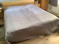 Alice at Home grey with lilac tinge bed throw /blanket