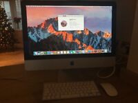 "Apple iMac 21.5"" screen 1TB HD, 8 gig ram, bought new in 2013"