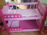 girls dolls bundle, bunkbeds, highchair etc antrim