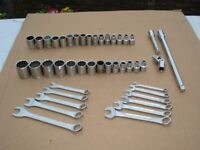 "METRIC and AF Sets of sockets..exten bars...plus Metric and AF spanner sets...""44"" pieces in total"