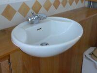 White ceramic - counter top basin