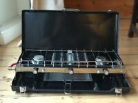 Camping Double Folding Burner and Grill