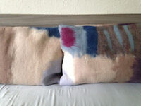 6 NEW Wool/felt Pillow Covers, Pillow Cases by Yak and White, Set of 6