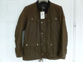 Barbour international duke mens waxed jacket padded size xl brand new tags on rrp 176.00