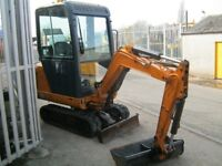 2009 HANIX 1.5T DIGGER, 2600 HOURS, 3 X BUCKETS, FULL CAB.(CHOICE OF 3)