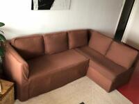 Corner Sofa bed with storage, Brown