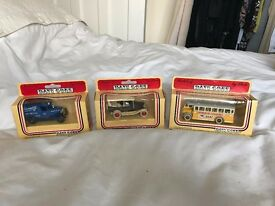 Lledo. Diecast Vehicles. DAYS GONE. 6 boxed vehicles. Original Leicester Mercury Offer. New.