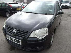 vw polo 1.2 3dr black,2005,very tidy condition,runs well, lots of service history,mot aug
