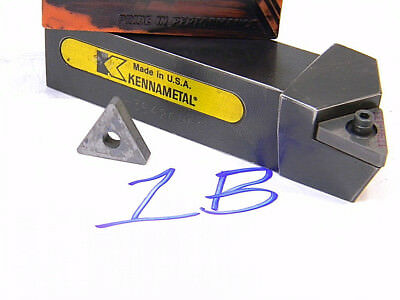 Lot 1b Kennametal Carbide Indexable Turning Tool Holder With Inserts Tnmg