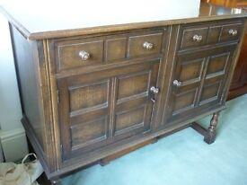 Oak cupboard/sideboard
