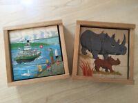 Atelier Fisher Klotzli Wooden 16-Part Cube Puzzle Development Toy