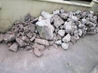 Rocks Stone Rubble Cement Concrete Free to Collect