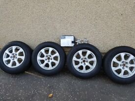 Audi /VW alloys with winter tyres