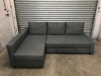 FREE DELIVERY IKEA FRIHETEN GREY L-SHAPED CORNER SOFA BED GOOD CONDITION