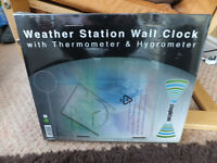 weather station wall clock - boxed