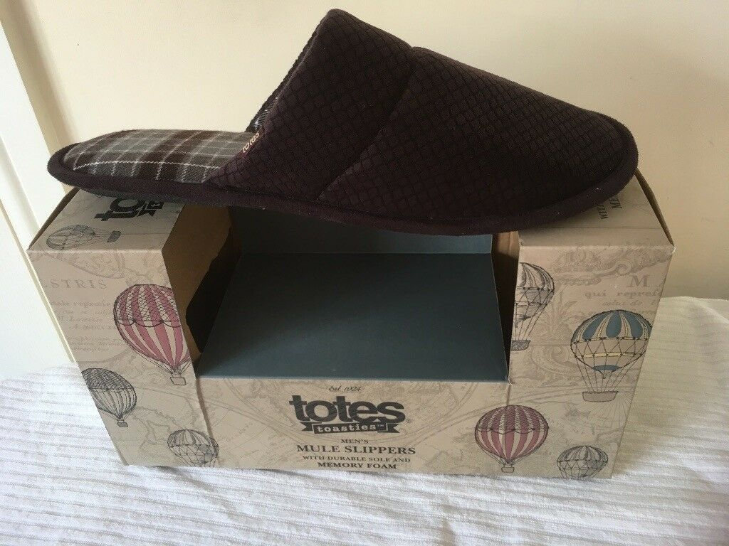 70e74994f0ee TOTES TOASTIES MENS MULE SLIPPERS SIZE UK 10 TO 11..LARGE NEW