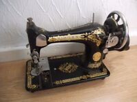 Singer hand turned sewing machine
