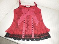 red/black lace top new size 10/12 from lilley of london