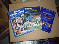 ROTHMANS RUGBY LEAGUE YEARBOOKS,AND SUBSEQUENT SPONSORS,FROM 1981-82 UP TO 2014-15