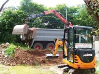 Mini Digger hire with friendly driver,South and East Devon,Torbay,South Hams.