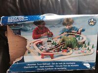 Universe of imagination wooden train set.