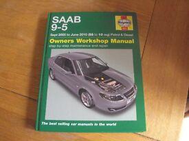 SAAB 95 Haynes workshop manual - Sept 2005 - June 2010 (55 to 10 reg)