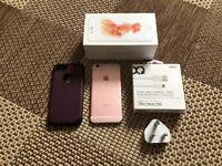 iphone 6s rose gold boxed with accessories