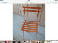 Orange Metal Folding Chair