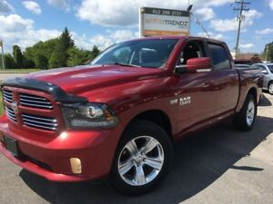 2013 RAM 1500 Sport NAV! Crew Cab with Sport leather/cloth St...