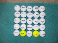 25 x SRIXON Soft Feel GOLF BALLS - Good, playable condition.