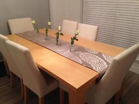 Dinning table and chairs from John Lewis