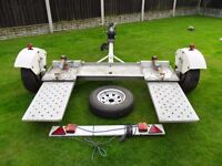 pheonix towing dolly trailer braked road legal factory built 2011 cost £1400 new bargain £650 lancs
