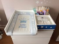 White changing table, handmade.