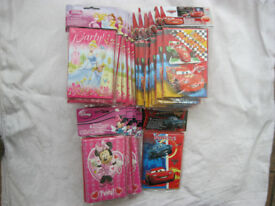Job Lot 186 Disney Party Invitations with Envelops
