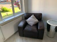 3 Piece Dark Brown Leather Suite