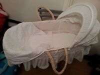 ALMOST NEW MOSES BASKET