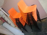 30 Orange Stacking Chairs