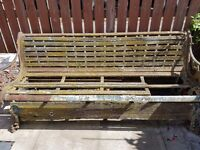 old cast iron garden seat