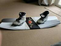 O'brien player adult wake board with j star bindings size 11 to 12 no bolts