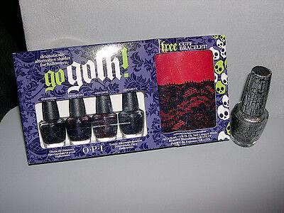OPI HALLOWEEN Mini Set **GO GOTH!** + *SILVER SHATTER* Full Size Nail Polish~NEW - Halloween Nail Polish Set