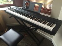Almost New Yamaha Electric Piano + Stand + Stool + Headphones