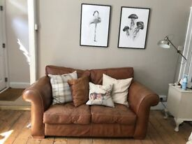 (1 or 2) Good Quality Brown Leather Sofa - £200 for 1, £400 for both- Duresta (Luxury Sofas)